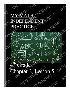 My Math Independent practice and answer worksheet 4th grade
