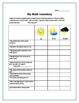 My Math Inventory