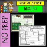 DIGITAL and PRINTABLE No Prep 1st Grade Math