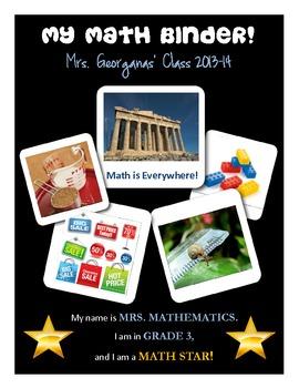 My Math Journal Binder {A Good Way to Get Organized!}