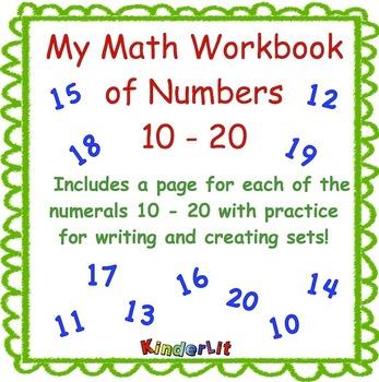 My Math Workbook of Numbers Ten to Twenty