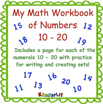 My Math Journal of Numbers 10 - 20