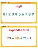 My Math © Large Vocabulary Cards Grade 3