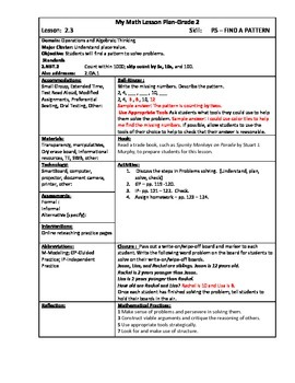 My Math (McGraw-Hill) 2nd Grade Chapter 2 Lesson Plans