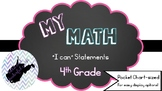 "My Math (McGraw-Hill) 4th Grade ""I Can"" Statements"