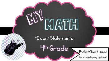 "My Math (McGraw-Hill) 4th Grade ""I Can"" Statements"