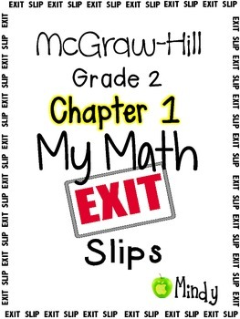My Math McGraw-Hill Chapter 1 Exit Slips Grade 2