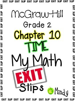 My Math McGraw-Hill Chapter 10 Exit Slips Grade 2