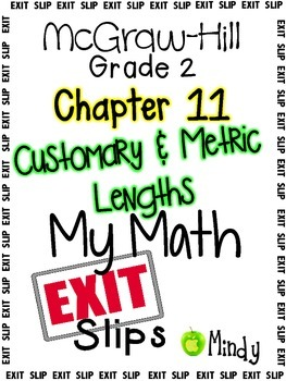 My Math McGraw-Hill Chapter 11 Exit Slips Grade 2