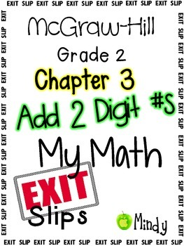 My Math McGraw-Hill Chapter 3 Exit Slips Grade 2