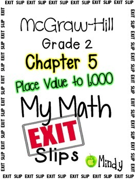 My Math McGraw-Hill Chapter 5 Exit Slips Grade 2