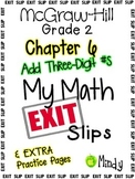 My Math McGraw-Hill Chapter 6 Exit Slips Grade 2
