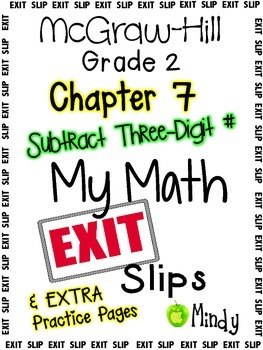 My Math McGraw-Hill Chapter 7 Exit Slips Grade 2