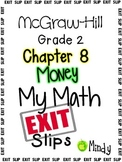 My Math McGraw-Hill Chapter 8 Exit Slips Grade 2