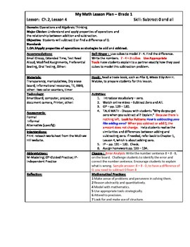My Math (McGraw-Hill) Grade 1 Chapter 2 Lesson Plans