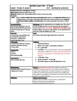 My Math (McGraw-Hill) Grade 1 Chapter 4 Lesson Plans by Kelly Lenox