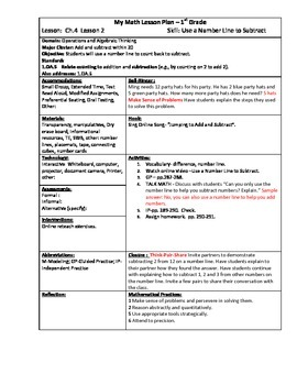 My Math (McGraw-Hill) Grade 1 Chapter 4 Lesson Plans - 2013 edition