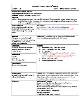 My Math (McGraw-Hill) Grade 1 Chapter 7 Lesson Plans