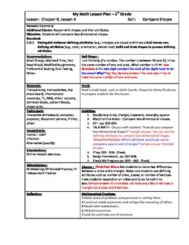 My Math (McGraw-Hill) Grade 1 Chapter 9 Lesson Plans