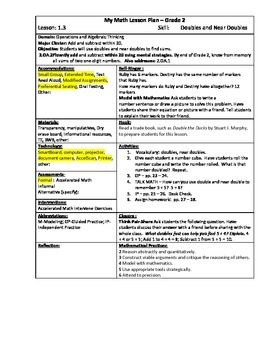 My Math (McGraw-Hill) Grade 2 Chapter 1 Lesson Plans