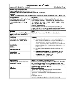 My Math (McGraw-Hill) Grade 2 Chapter 10 Lesson Plans