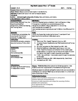 My Math (McGraw-Hill) Grade 2 Chapter 11 Lesson Plans