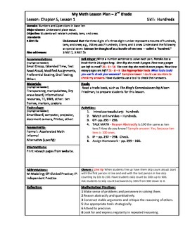 My Math (McGraw-Hill) Grade 2 Chapter 5 Lesson Plans