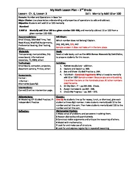 My Math (McGraw-Hill) Grade 2 Chapter 6 Lesson Plans