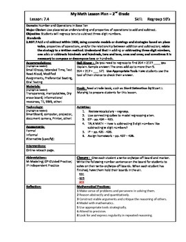 My Math (McGraw-Hill) Grade 2 Chapter 7 Lesson Plans