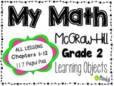 My Math McGraw-Hill Grade 2 Learning Objectives Chapters 1-12