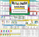 Math Practice Interactive Binder, Notebook, File Folder Activities