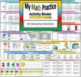 Math Practice Interactive Binder, Notebook, File Folder Ac