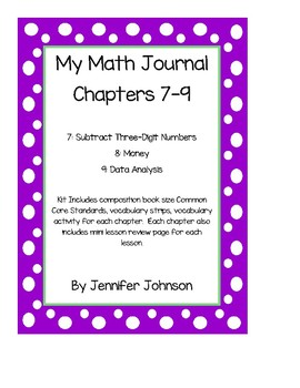 My Math Student Math Journal Pages Chapters 7-9