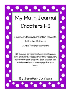 My Math Student Math Journal Pages Chapters 1-3