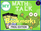 My Math Talk Sentence Starters - FROG edition