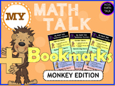 My Math Talk Sentence Starters - MONKEY edition