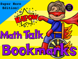 My Math Talk Sentence Starters - Super Hero Edition!