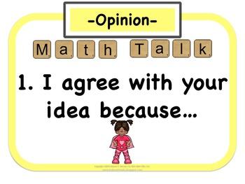 My Math Talk Sentence Starters - Super Hero Edition!