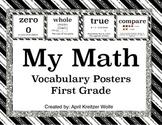 My Math Vocabulary Posters