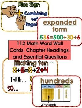 My Math Word Wall - Common Core Aligned