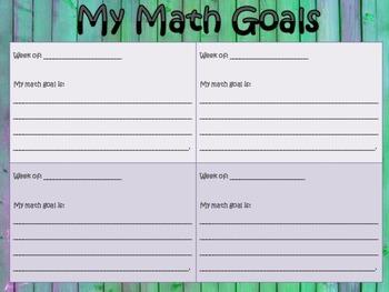 Math Goal Setting Tool