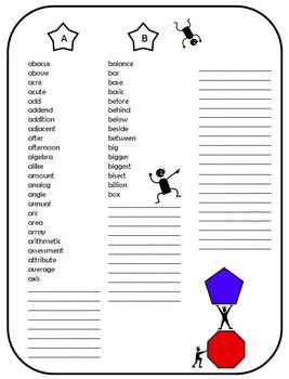 My Mathematical Spelling Dictionary