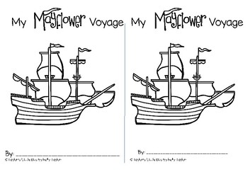 My Mayflower Voyage - Thanksgiving book