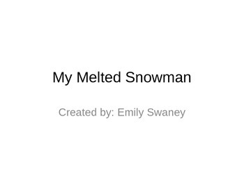 My Melted Snowman Shape Activty