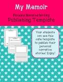 My Memoir Personal Narrative Publishing Template