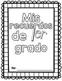 My Memory Book 1st grade SPANISH| Mis recuerdos de 1er grado