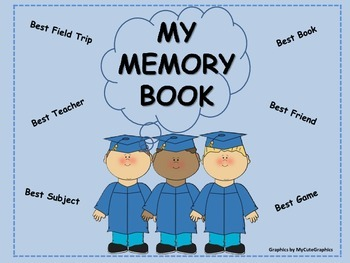 End of Year Memory Book {20 page booklet,autograph pages & 2 diploma choices}