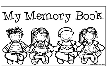 End of the year activity- Memory book