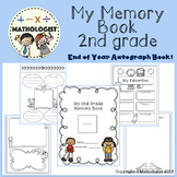 My Memory Book, End of Year Autograph Book, 2nd Grade
