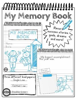 My Memory Book - Handwriting, Drawing, Self-Reflection